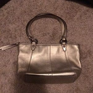 Gold coach purse small